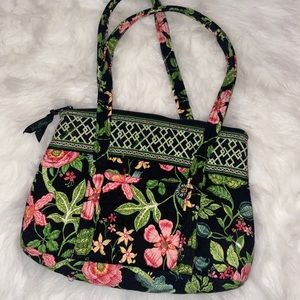 Vera Bradley Small Shoulder Bag Black Floral